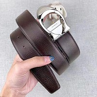 COACH Fashion New Letter Buckle Women Men Leisure Belt Coffee With Box