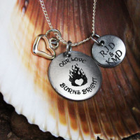 Personalized Firefighter Wife or Girlfriend Necklace -Firefighter Jewelry - Fireman Jewelry - Personalized Engraved Jewelry