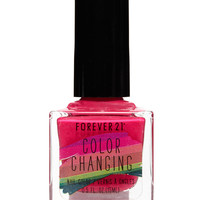 Hot Pink Color Changing Nail Polish