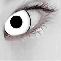 Mesmereyez Glass White Coloured Contacts (Comfort)