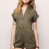 Reagan Button Down Romper