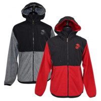 USMC Logo Yukon Color Block Fleece Jacket | The Marine Shop