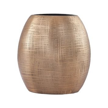Kolkata 7-Inch Vase In Gold