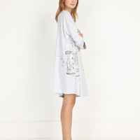 House print nightdress - OYSHO