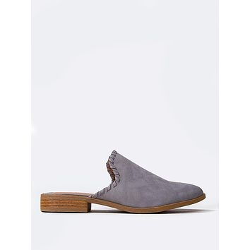 Pointed Toe Slide On Loafers