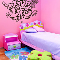 Vinyl Wall Decal Sticker Love Life #1315