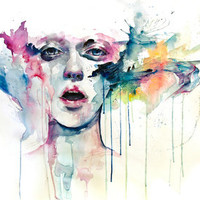 learn to bloom Art Print by agnes-cecile