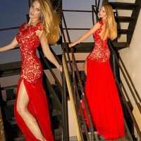 2014 Sexy Long Formal Ball Cocktail Prom Dress Party Dresses Evening Gown