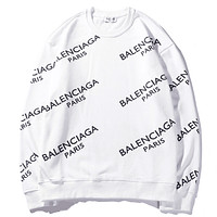 Balenciaga Casual Print Top Sweater Pullover