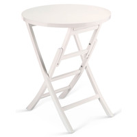 Levison Folding Table, White, Standard Side Tables