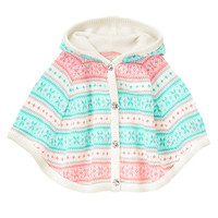 Shiny & Bright Fair Isle Sweater Cape at Gymboree