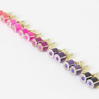 Supermarket - color pencil earrings, the purple and pink series from Huiyi Tan Handmade Designer Jewelry