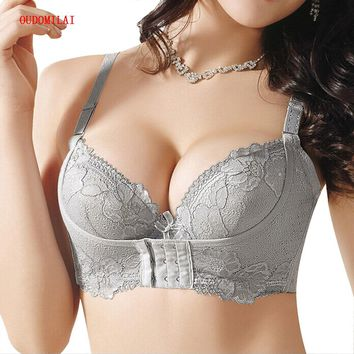 OUDOUMILIA Hot Super Push Up Bra For Small Breasts Lace Bras For Women Water Brassiere Sexy Women Bra Push Up Bra lingerie Bh