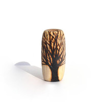 Wood beads: unique burned tree bead for dreads, handmade hippie natural wooden hair accessory, braid curls dreadlock beads