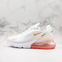 Nike Air Max 270 White Pink Running Shoes - Best Deal Online