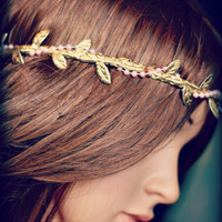 LEAF HALO, gold, pink, halo headband, elastic, woman, child, girl, baby, infant, photo prop, hair accessory, boho, any size, pearl