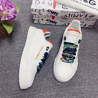 Dolce&Gabbana  Men Fashion Boots fashionable Casual leather Breathable Sneakers Running Shoes06170gh