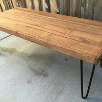 Old fart (antique walnut color) : Coffee table , Pallet wood , Reclaimed, hand crafted, wooden table, furniture