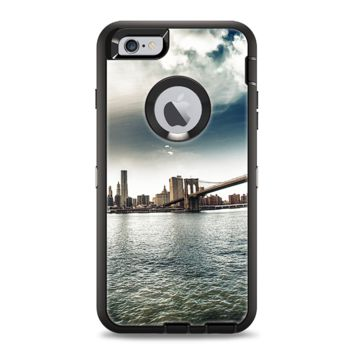 The Vivid Cloudy Sky Over The City Skyline Apple iPhone 6 Plus Otterbox Defender Case Skin