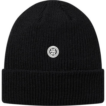 Supreme: Disrupt Rubber Patch Beanie - Black