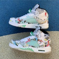 Air Jordan 5 Retro Graffiti Wings Sneaker