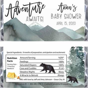 Adventure Baby Shower Candy Bar Wrappers
