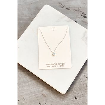 Star Dainty Necklace - Silver