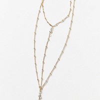 Elise Delicate Lariat Necklace   Urban Outfitters