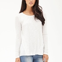 LOVE 21 Lacy Waffle Knit Top