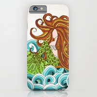 Mermaid Waves iPhone & iPod Case by ArtLovePassion
