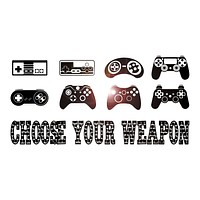 Vinyl Wall Decal Gaming Quote Joysticks Video Game Gamer Room Stickers Unique Gift (ig4500)