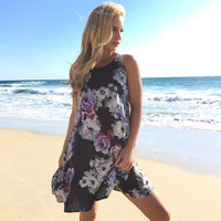 Floral Fountain Shift Dress