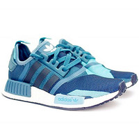 ADIDAS NMD Women Running Sport Casual Shoes Sneakers camouflage Blue