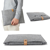 """Wool Felt Laptop Notebook Sleeve Bag Case For MacBook Air Pro Retina 11"""" 13"""" 15"""" Business Laptop Briefcase Hasp Bag for Dell HP"""