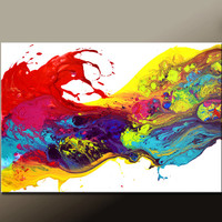 Abstract Canvas Art Painting 36x24 Original Contemporary Modern Wall Art Paintings by Destiny Womack - dWo - Leaps of Faith