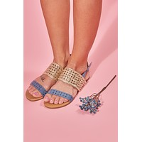 Cut Out Of It Distressed Sandals (Champagne)