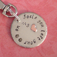 Hand stamped pet memorial jewelry, dog jewelry, animal jewelry, personalized pet charm, necklace, keyring
