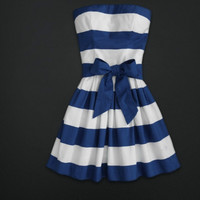 point bowknot waistband tee dress --A