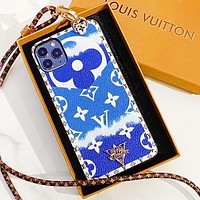 LV Case Louis Vuitton Clouds Gradient Monogram iPhone 6 s 7 s 8 XS XR 11 Pro Max Colorful