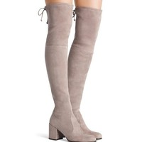 Thigh High Low Heeled Boots 5 Colors