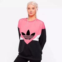 Adidas HOT SALE Round neck letters printed loose long sleeve sweater