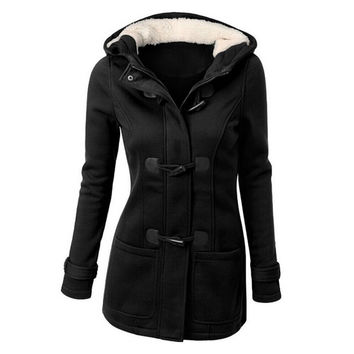 Women Thick Wool Coat Hoodie Jacket Parka Trench Peacoat Double Breasted Warm Clothes 4 Colors PY1 SM6
