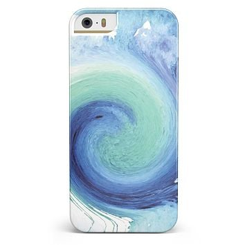 Blue and Teal Watercolor Swirl iPhone 5/5s or SE INK-Fuzed Case