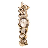 Fossil ES3459 Women's Curator Rose Gold Dial Rose Gold Steel Chain Bracelet Watch