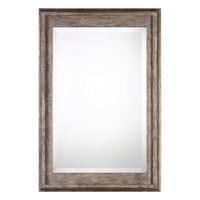 Allegan Antiqued Silver Wall Mirror by Uttermost