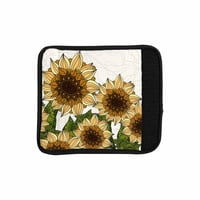 """Art Love Passion """"Sunflower Field"""" Beige Yellow Luggage Handle Wrap"""