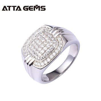 925 sterling silver men's ring, 16mm*25mm for ring size, top quality and luxury design, the best gift for boyfriend and husband