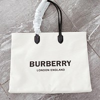 BURBERRY Classic Women Shopping Bag Canvas Handbag Tote Satchel Shoulder Bag