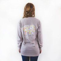 Classic Fit Taupe Ogee Tee