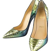 CHRISTIAN LOUBOUTIN Multi-Color So Kate 120 Python Pump 8/38